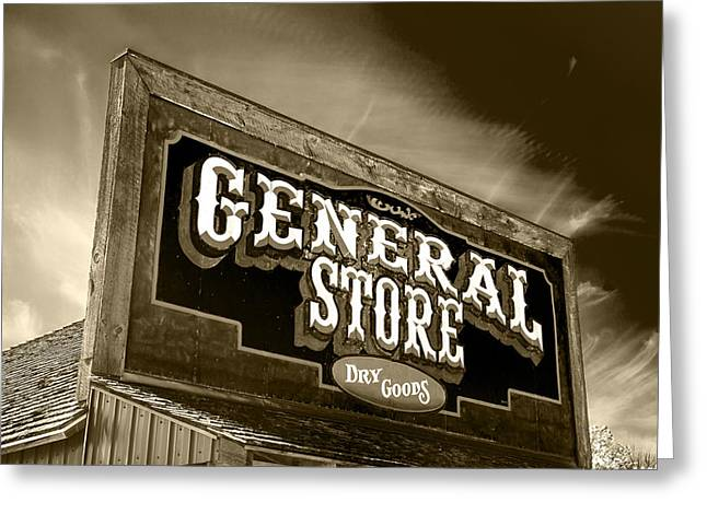 General Store Sign Greeting Card by Donald  Erickson
