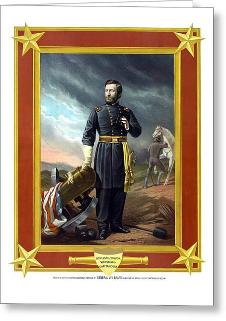 Us Civil War Greeting Cards - General US Grant Greeting Card by War Is Hell Store