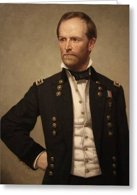 March Paintings Greeting Cards - General William Tecumseh Sherman Greeting Card by War Is Hell Store