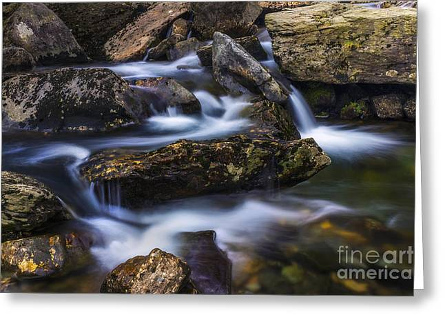 Water Flowing Greeting Cards - Gentle Flow Greeting Card by Ian Mitchell