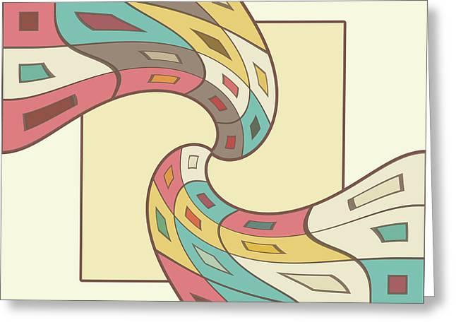 Geometric Artwork Greeting Cards - Geometric abstract Greeting Card by Gaspar Avila