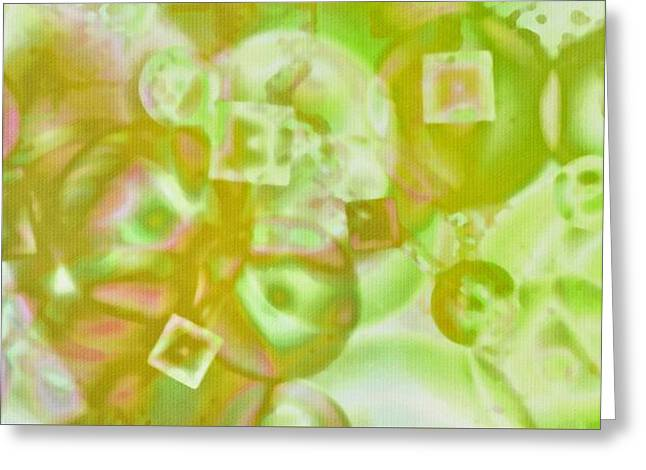 Abstract Shapes Greeting Cards - Geometric Abstract  Greeting Card by Kathy Franklin