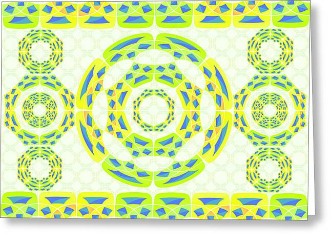 Geometric Composition Greeting Card by Gaspar Avila
