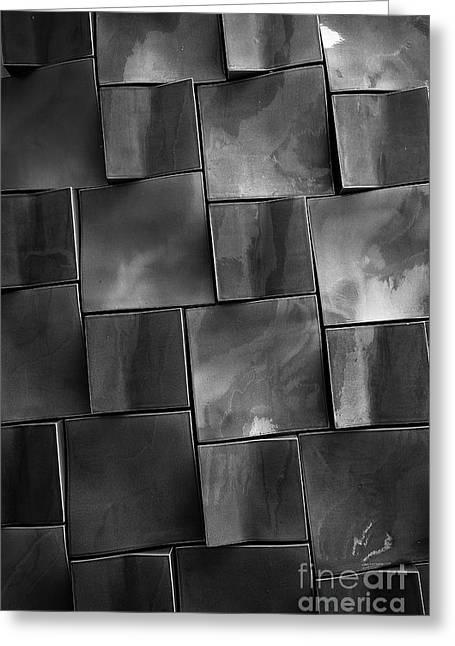 Geometrix Abstract Art Greeting Card by Edward Fielding
