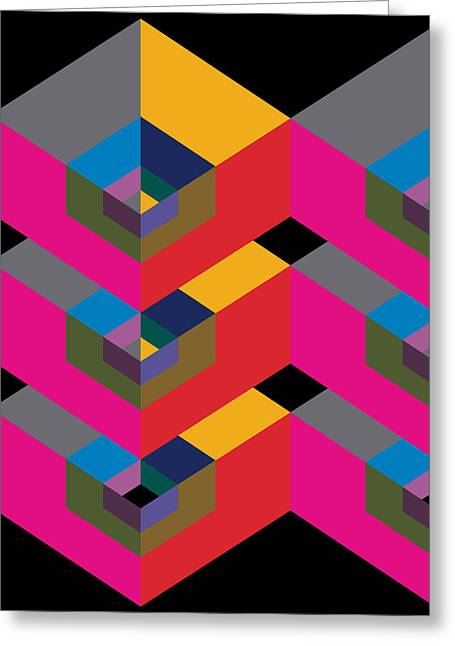 Geometric Design Greeting Cards - Geometry Greeting Card by Marcio Pontes