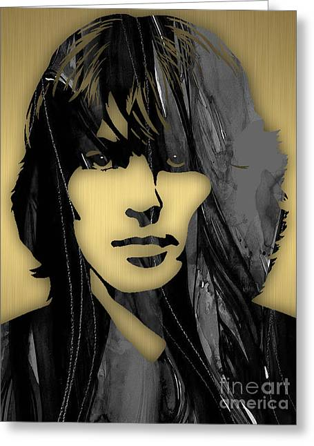George Harrison Mixed Media Greeting Cards - George Harrison Collecton Greeting Card by Marvin Blaine