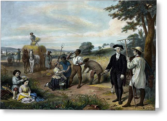George Washington - The Farmer Greeting Card by War Is Hell Store