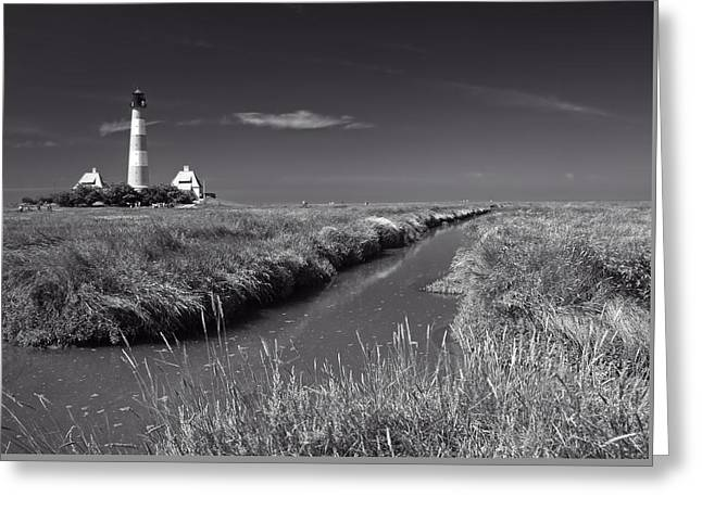 North Sea Greeting Cards - German Lighthouse Greeting Card by Rgp