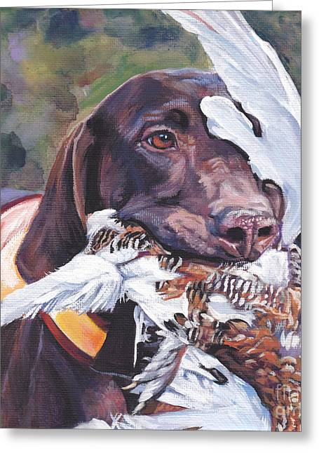 Gun Dog Greeting Cards - German Shorthaired Pointer Greeting Card by Lee Ann Shepard