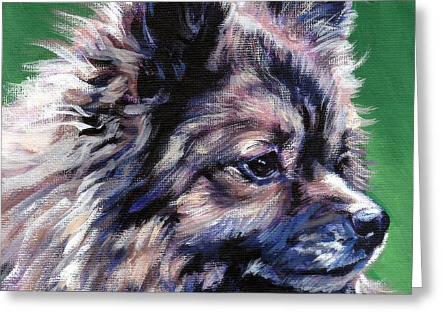 German Shepard Dogs Greeting Cards - German Spitz Greeting Card by Lee Ann Shepard
