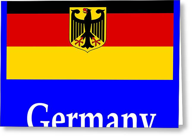 Europe Mixed Media Greeting Cards - Germany Flag And Name Greeting Card by Frederick Holiday
