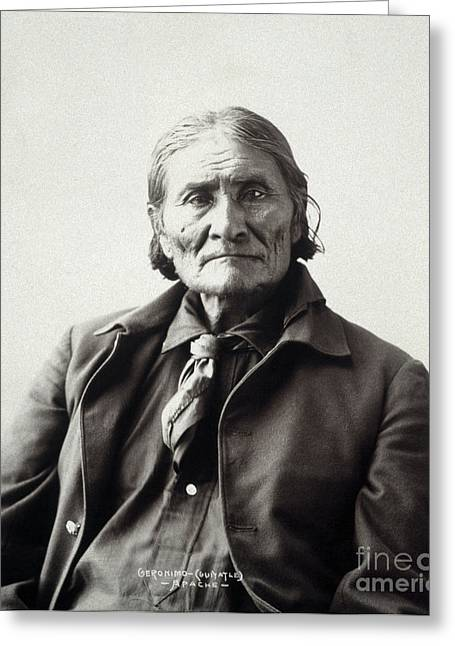 Adolph Greeting Cards - Geronimo (1829-1909) Greeting Card by Granger
