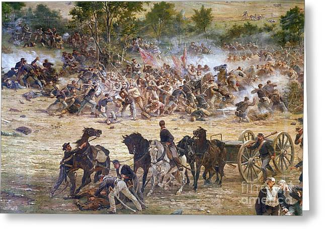 Confederate Army Greeting Cards - Gettysburg, 1863 Greeting Card by Granger