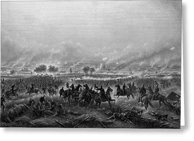 Civil War Battlefield Greeting Cards - Gettysburg  Greeting Card by War Is Hell Store