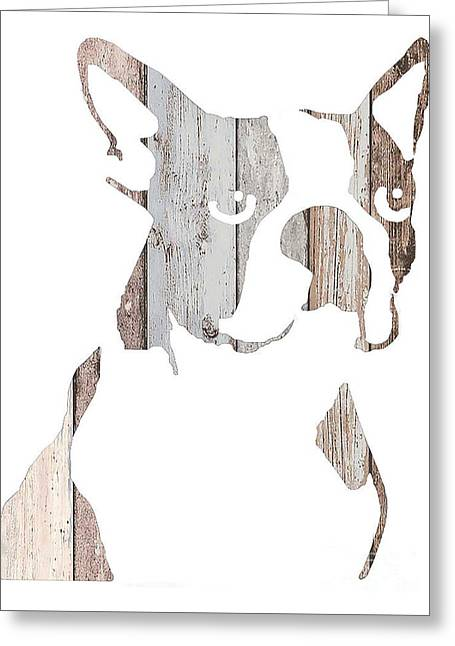 Boston Terrier Greeting Cards Greeting Cards - Ghost Boston Greeting Card by Barbara  Campbell