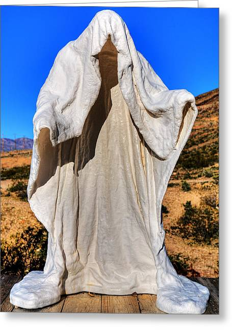 Desert Prints Greeting Cards - Ghost In The Desert Greeting Card by James Marvin Phelps