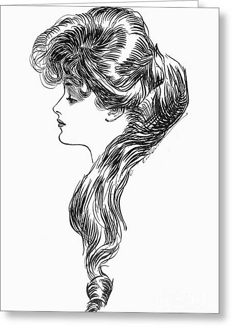 Question Mark Greeting Cards - Gibson Girl, 1903 Greeting Card by Granger