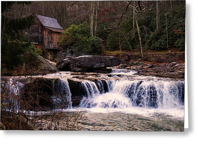 Grist Mill Digital Art Greeting Cards - Glade Creek Grist Mill Greeting Card by Chris Flees