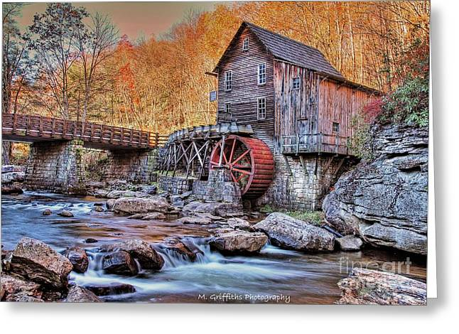Grist Mill Greeting Cards - Glade Creek Mill Greeting Card by Mike Griffiths