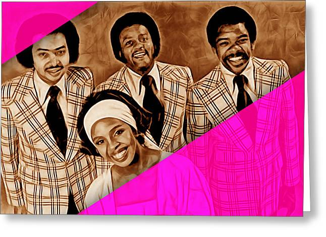 Soul Greeting Cards - Gladys Knight and The Pips Greeting Card by Marvin Blaine