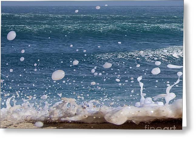 Glitter Foam  -  Part 1 Of 3 Greeting Card by Sean Davey