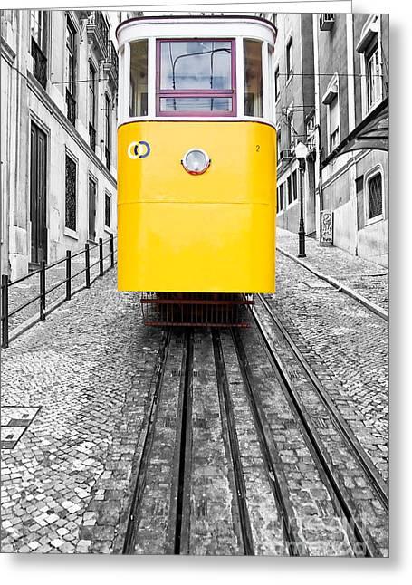 City And Colour Greeting Cards - Gloria Funicular Greeting Card by Jose Elias - Sofia Pereira