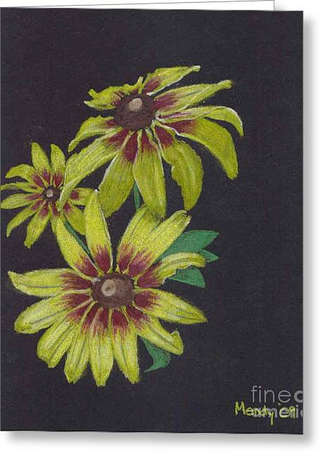 Daisies Pastels Greeting Cards - Gloriosa Daisy Greeting Card by Mendy Pedersen