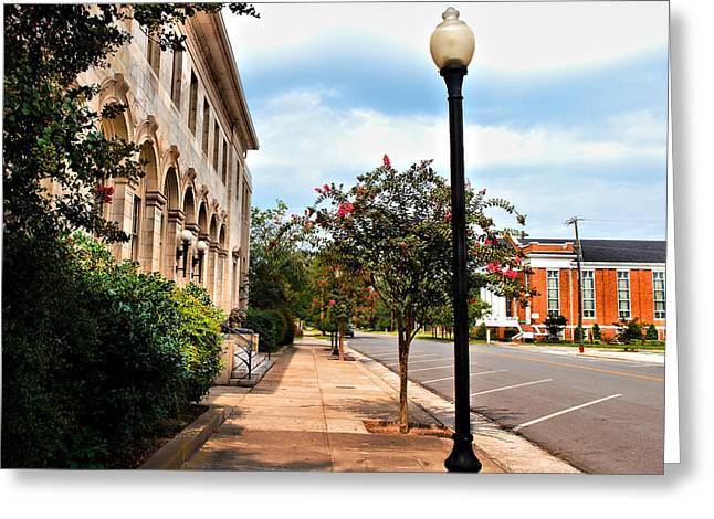 One Point Perspective Greeting Cards - Going Home Again Greeting Card by Laura Ragland