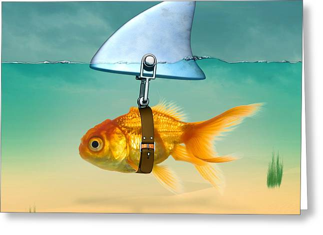 Sea Life Posters Greeting Cards - Gold Fish  Greeting Card by Mark Ashkenazi