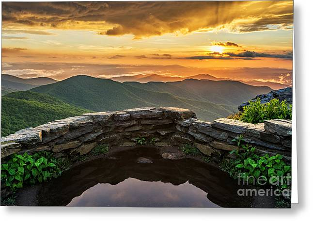 Craggy Greeting Cards - Golden Greeting Card by Anthony Heflin