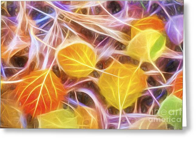Vibrant Green Greeting Cards - Golden Autumn Greeting Card by Veikko Suikkanen