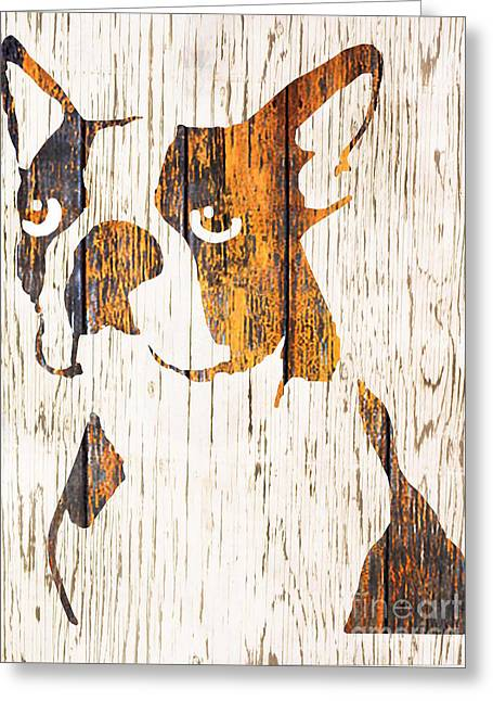 Boston Terrier Greeting Cards Greeting Cards - Golden Boston Greeting Card by Barbara  Campbell