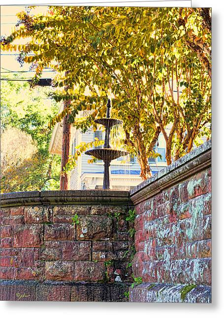 Golden Canopy Greeting Card by Paulette B Wright