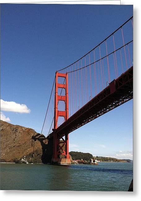 Golden Gate Bridge Greeting Card by Eliot Jenkins