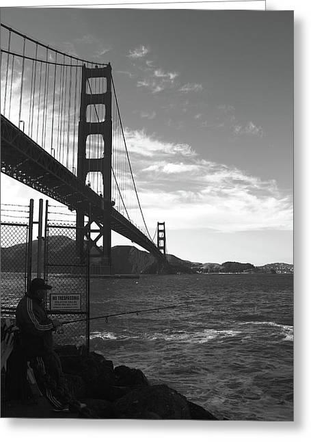 Golden Gate Bridge Greeting Card by Aidan Moran