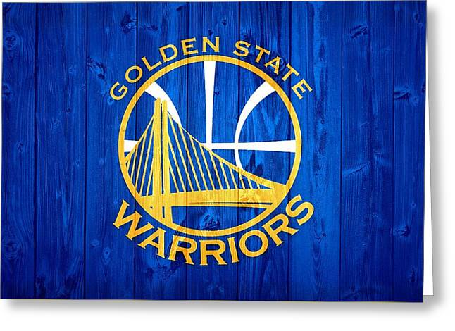Golden State Warriors Door Greeting Card by Dan Sproul
