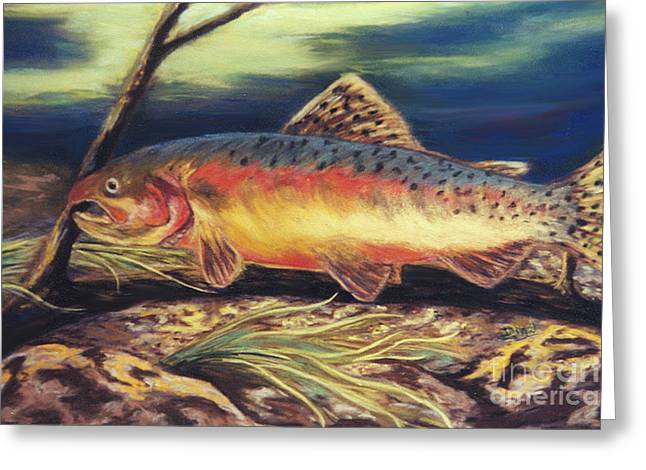 Golden Trout Greeting Cards - Golden Trout Greeting Card by Dian Paura-Chellis
