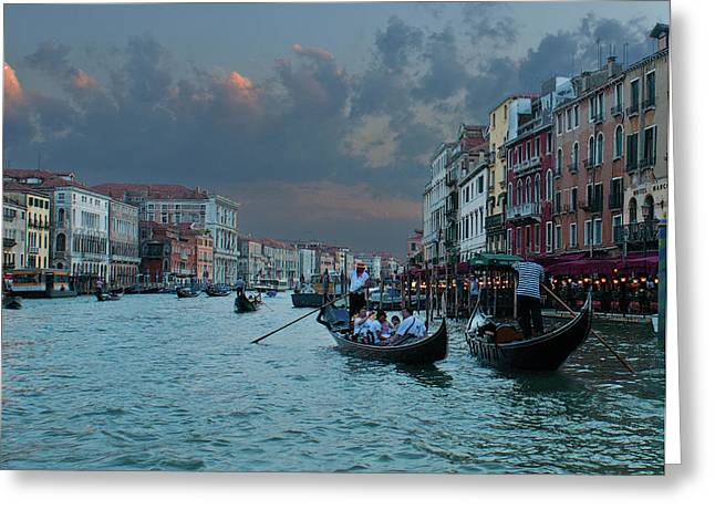 Gondolier Greeting Cards - Gondoliers of Venice Greeting Card by Don Wolf