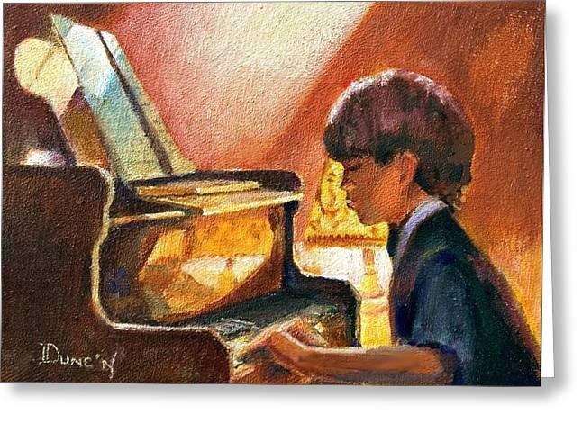 Playing Piano Greeting Cards - Good Eyes Greeting Card by Bob Duncan