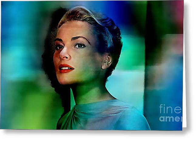 Grace Kelly Greeting Card by Marvin Blaine