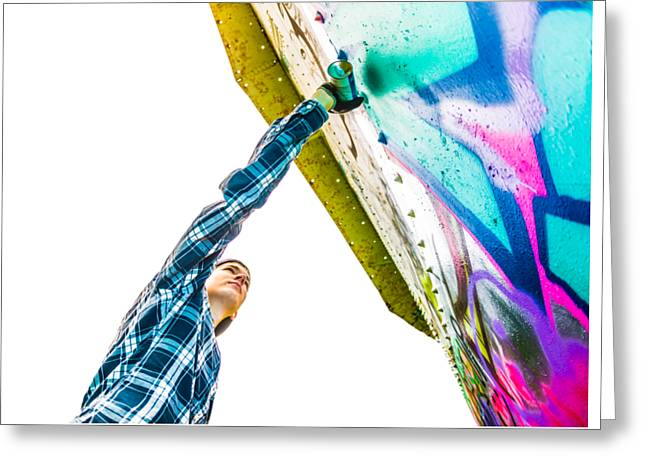 Graffiti Art Greeting Cards - Graffiti Artist Greeting Card by Diane Diederich