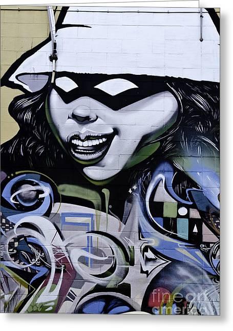 Slam Greeting Cards - Graffiti Girl Greeting Card by Yurix