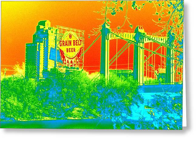 Hennepin Greeting Cards - Grain Belt 1 Greeting Card by Rashelle Brown