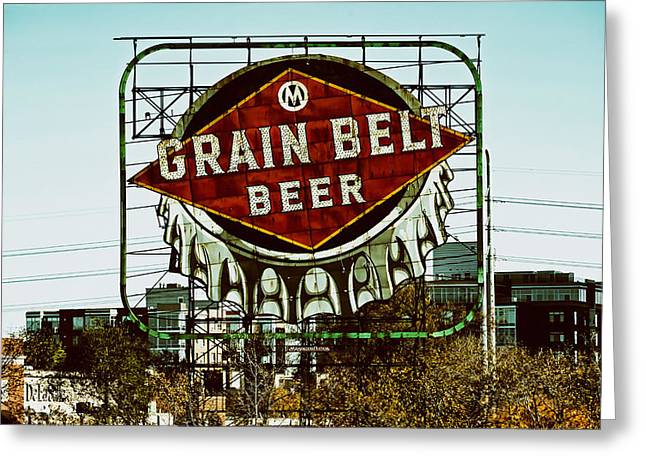 Bottle Cap Greeting Cards - Grain Belt Beer Greeting Card by Mountain Dreams
