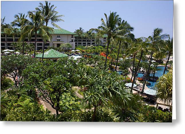 Ocean Front Landscape Greeting Cards - Grand Hyatt Kauai Greeting Card by Steven Lapkin