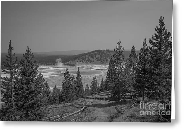Grand Prismatic Spring  Greeting Card by Michael Ver Sprill