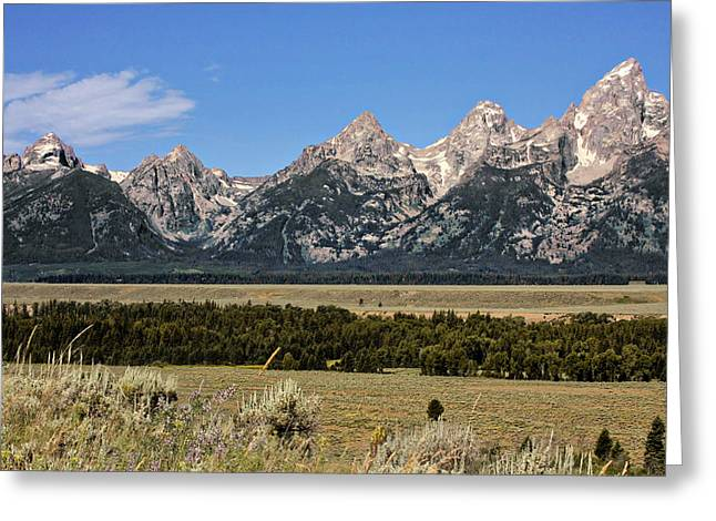 Rugged Greeting Cards - Grand Teton WY Greeting Card by Christine Till