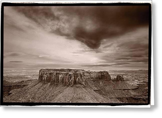 Grandview Greeting Cards - Grandview Canyonlands National Park Utah Greeting Card by Steve Gadomski