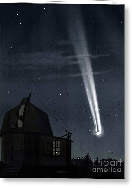 Great Comet Of 1881 Greeting Card by Science Source
