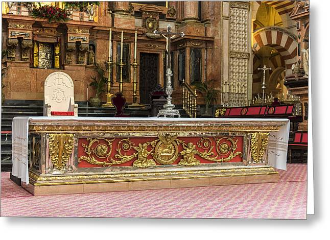 Great Mosque Greeting Cards - Great Mosque Altar - Cordoba Spain Greeting Card by Jon Berghoff